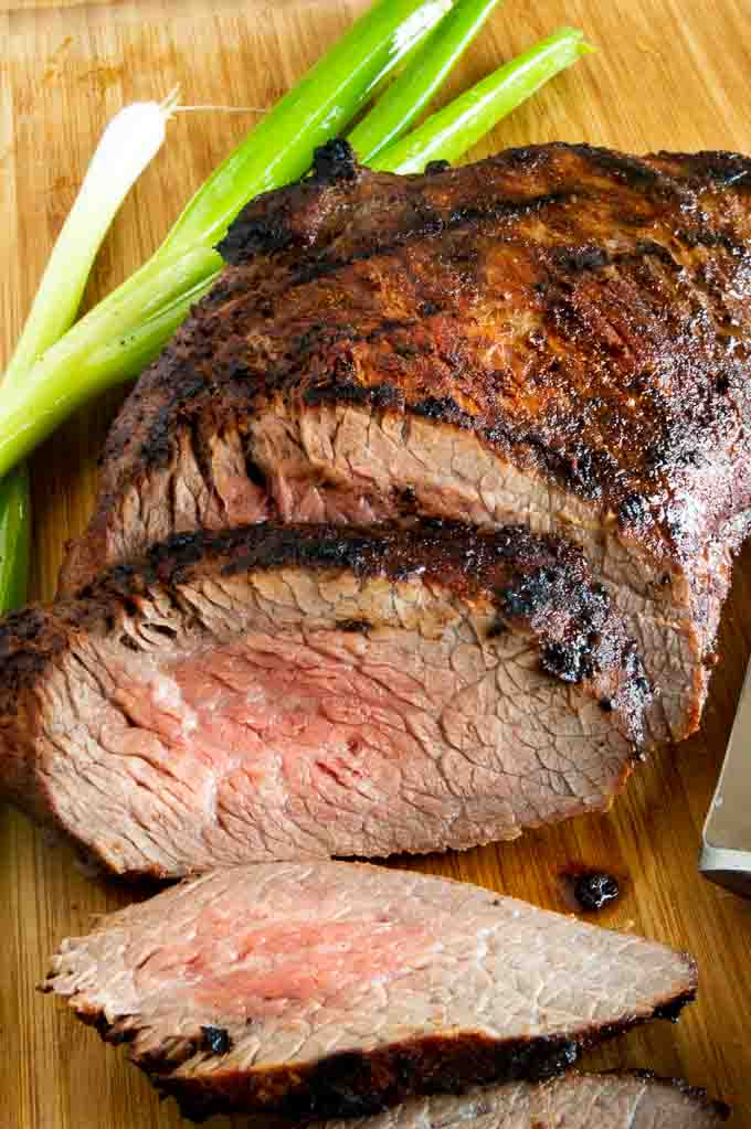 California cut tri tip roast tender cut pieces ready for serving
