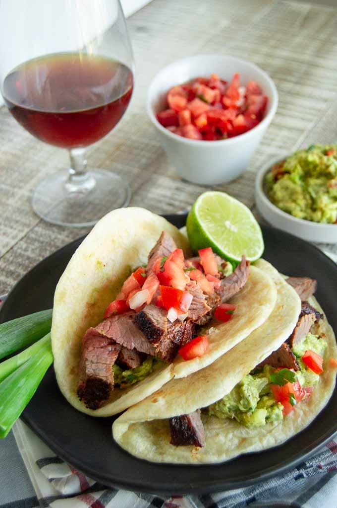 Tender juicy tri tip roast in tacos
