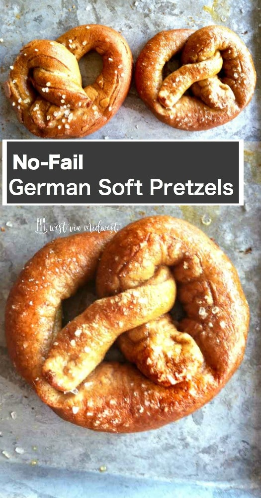Authentic Pretzels on a trat