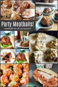 Your source for all things Meatballs.... for game day parties, cocktail parties, casual entertaining or weeknight dinner, Any meatball recipe you could ever want!  From casual to fancy, made from turkey, beef, chicken or lamb, with all the fun flavors your guests will love! #meatballs #partymeatballs #subsandwhiches #meatballsliders