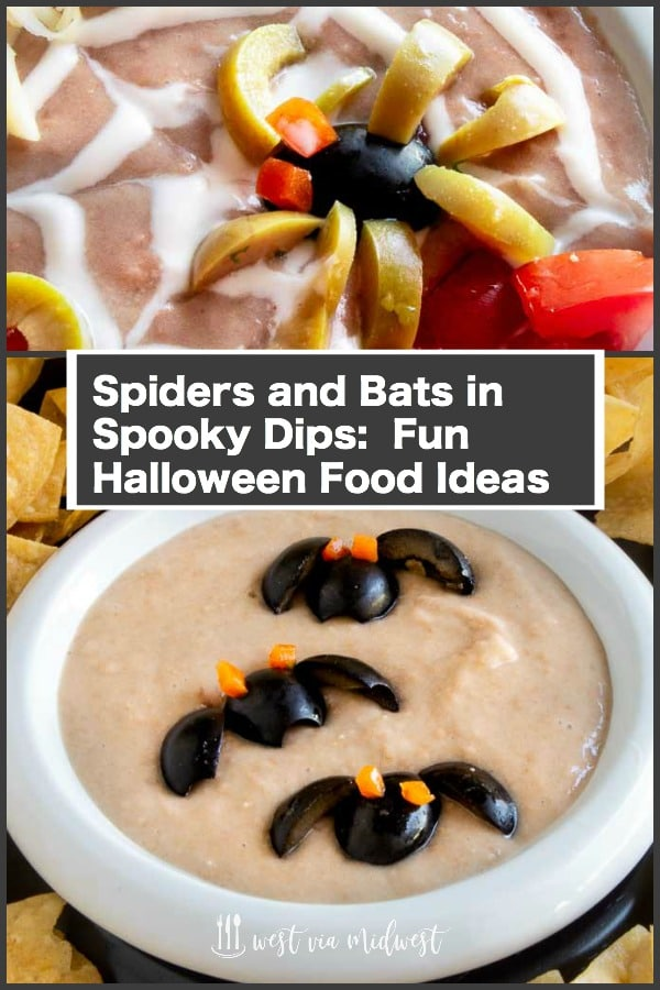 Spiders and bats for halloween food ideas