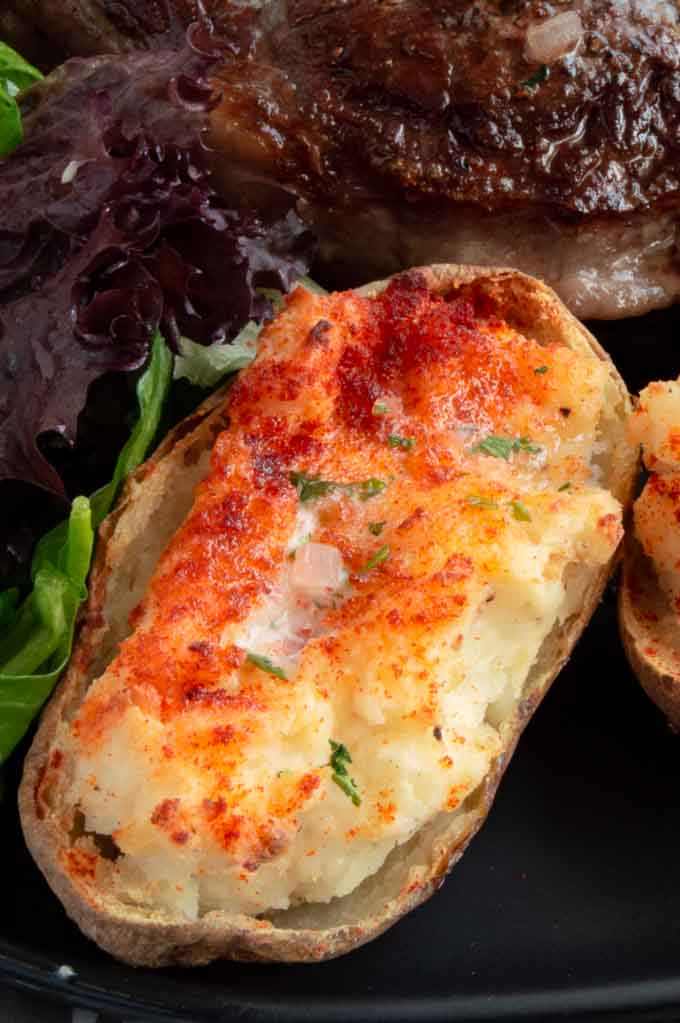 Crunchy Outside Creamy Inside Twice Baked Potatoes West Via Midwest