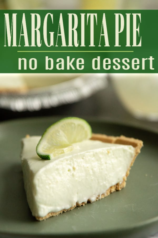 Margarita pie is creamy, tart with a hint of tequila all made without an oven(no bake) so it's perfect for not only Cinco De Mayo but all of your BBQ's and pool parties! #boozypie #nobakepie #frozendessert