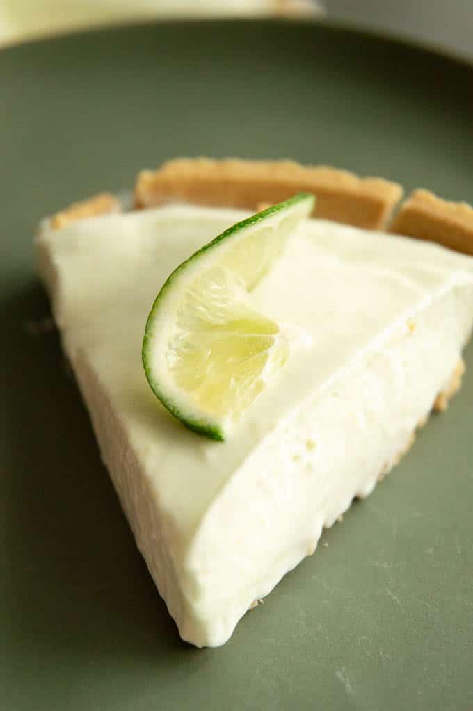 single slice of margarita pie