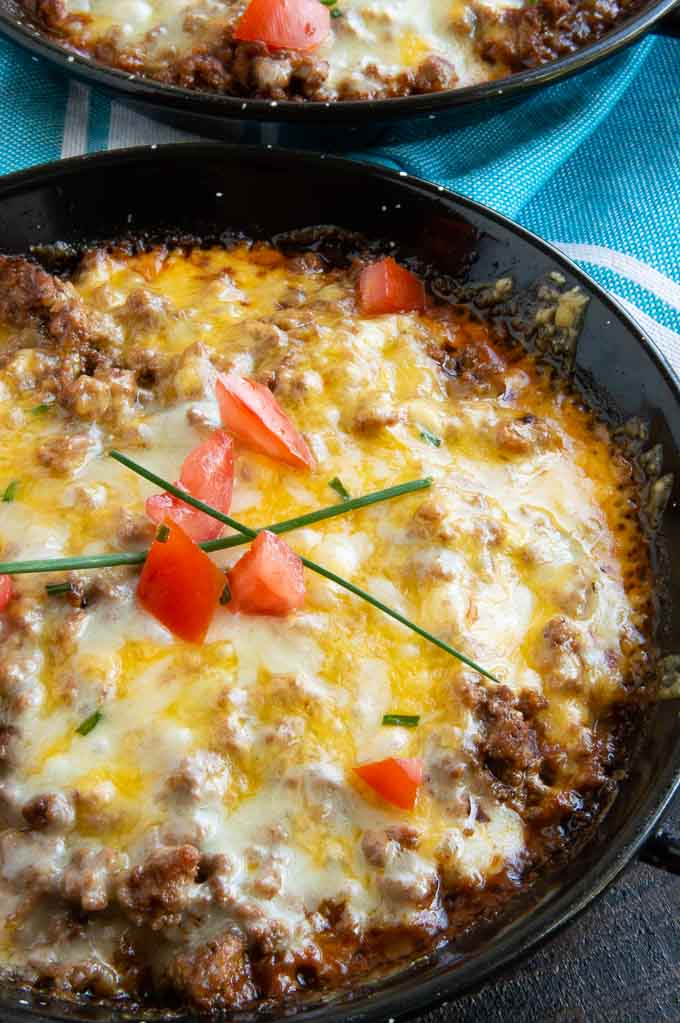 Tamale Pie in a Cast Iron Pan