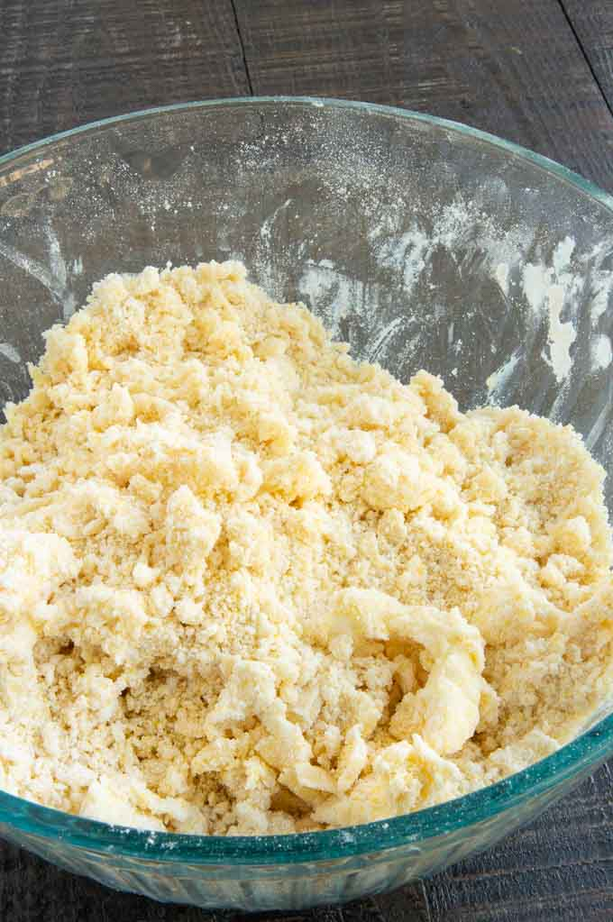 All dry ingredients mixed for cornmeal gullet