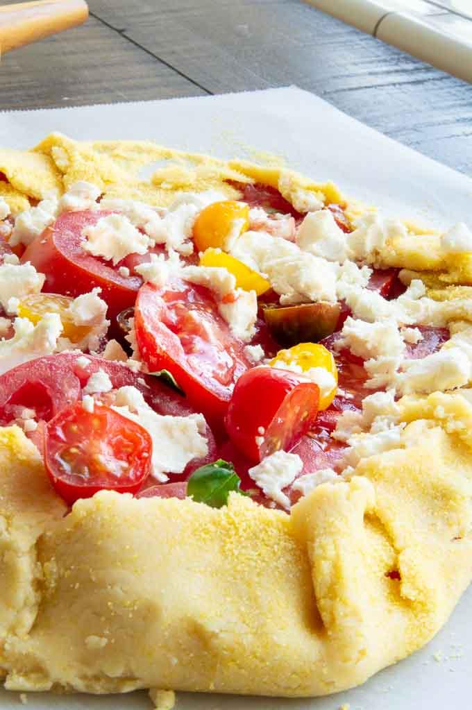 Cornmeal Crust on a Tomato Crostata