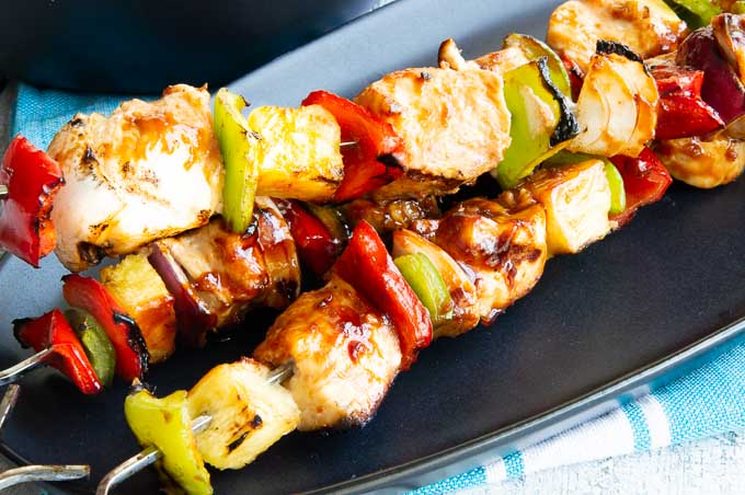 Hawaiian Chicken Kebobs Recipe