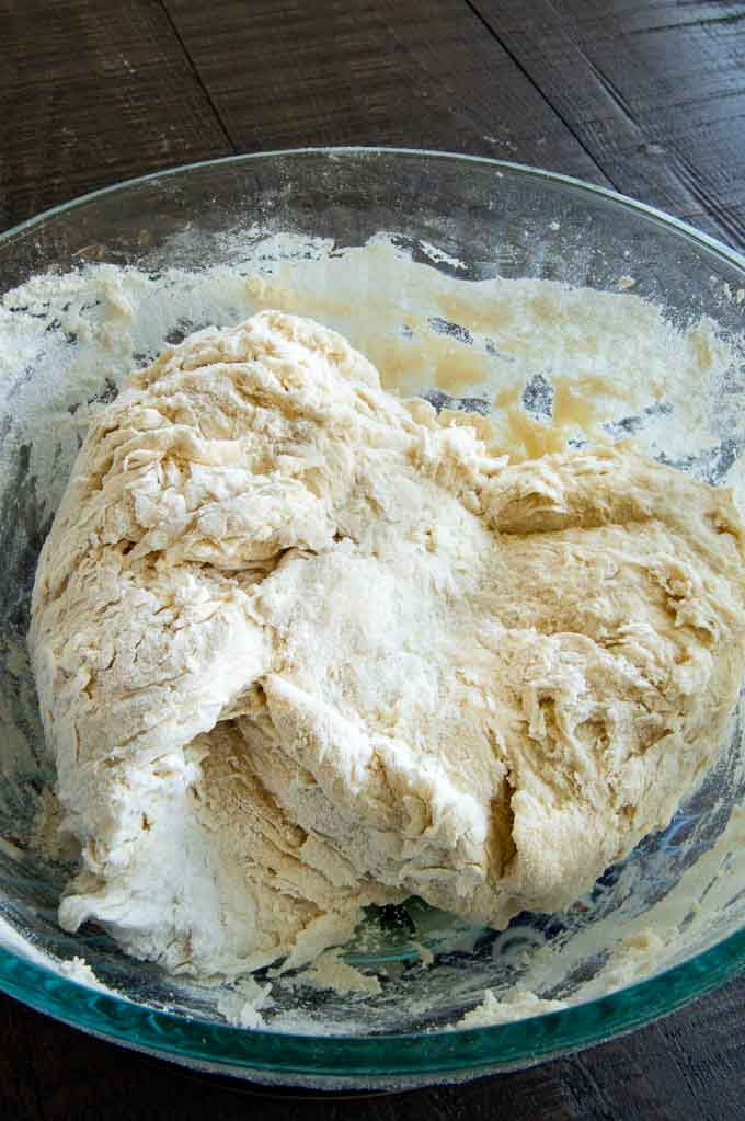 craggy pretzel dough for soft pretzels