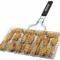 Grilling Basket to avoid small meats sliding through grates