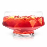 Viski 6447 Cocktail, Old Fashioned, Martini and Wine Footed Alcohol Punch Bowl, Set of 1, Clear