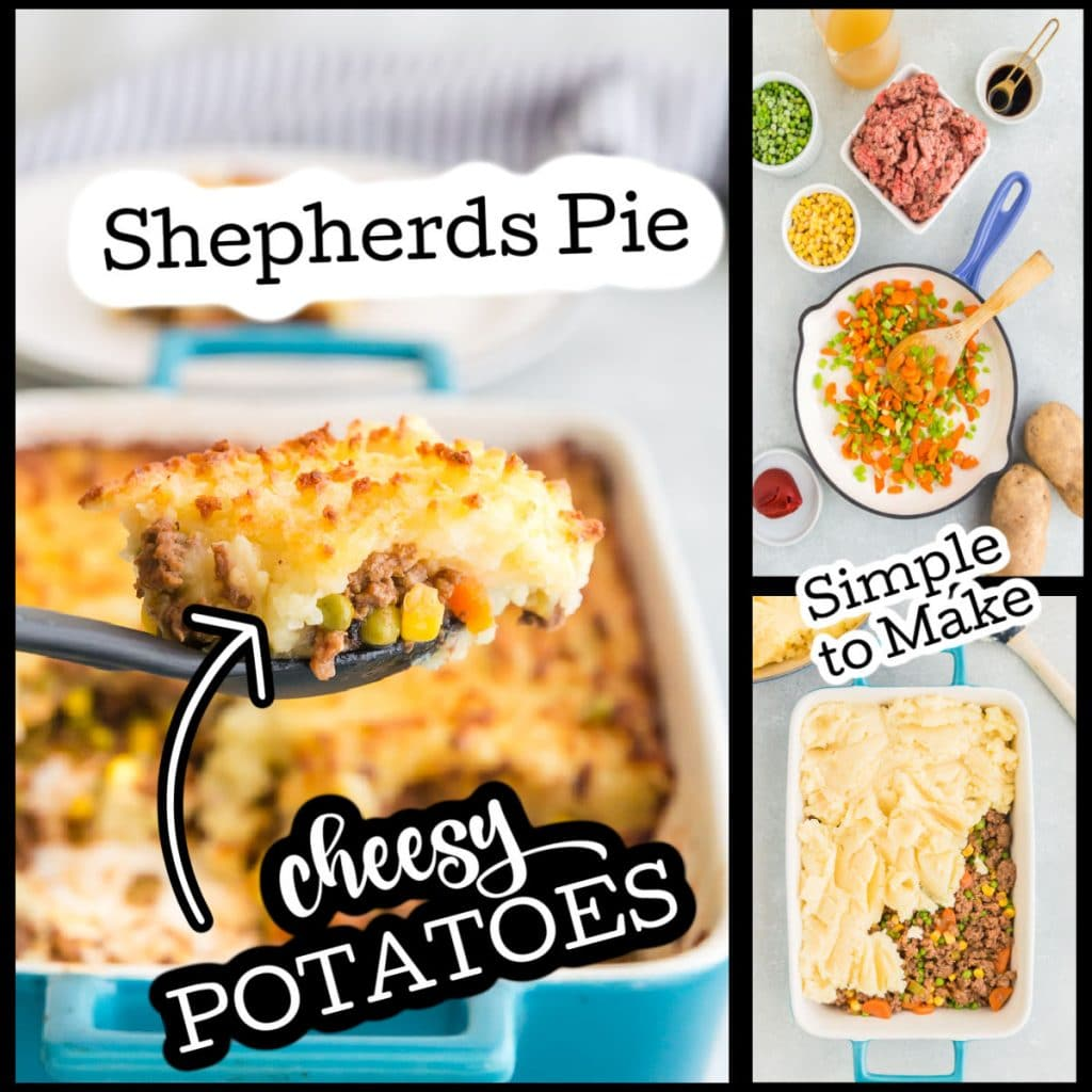 collage of making authentic shepherds pie