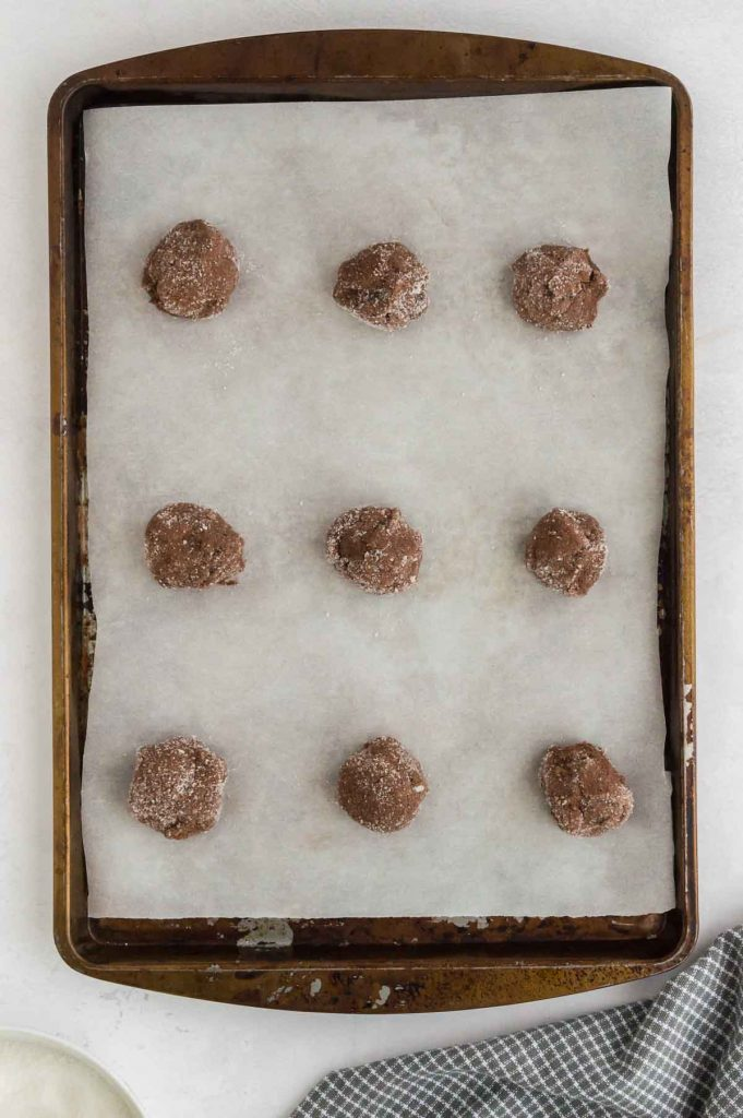 balls on a tray