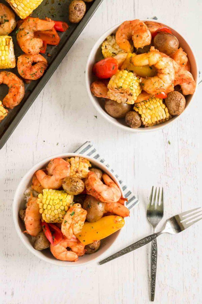 bowl of shrimp boil