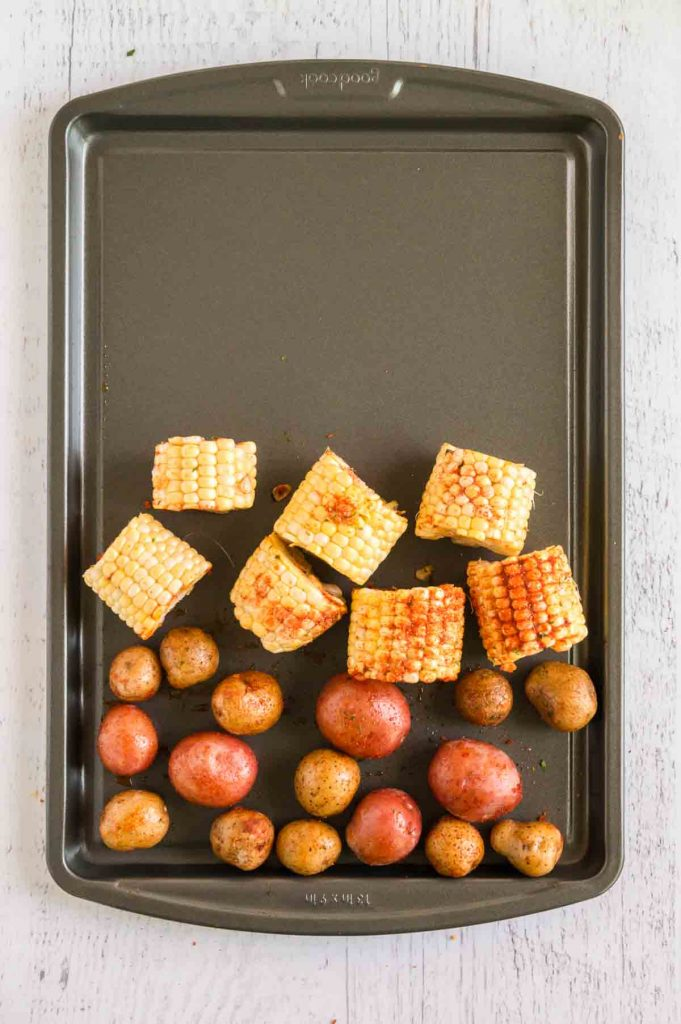 potatoes and carrots on tray