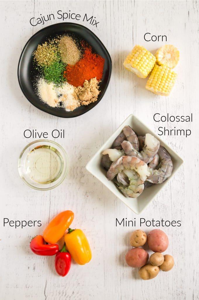 ingredients for sheet pan shrimp