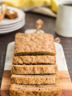 Zucchini Walnut bread on a cutting board