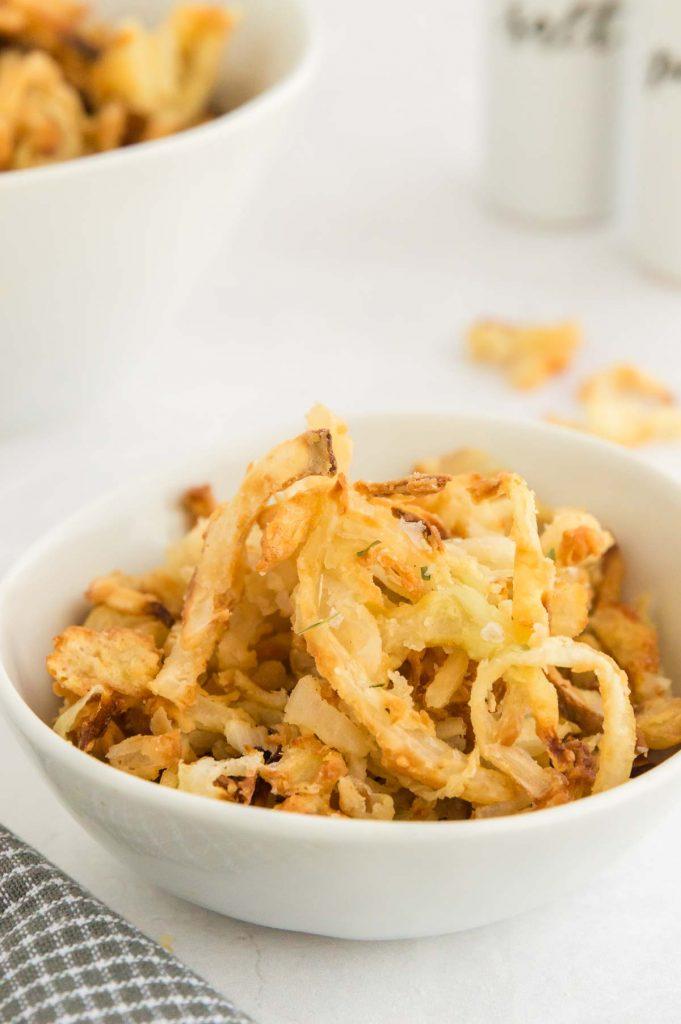 crispy onions in a bowl