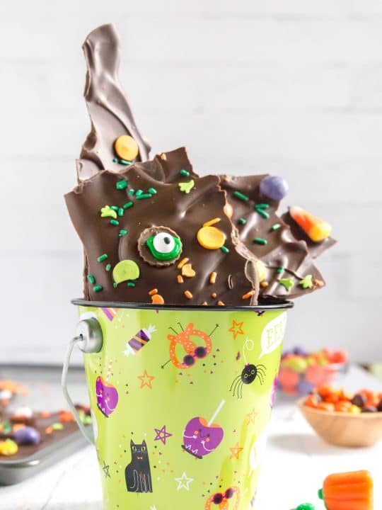 bucket of chocolate bark