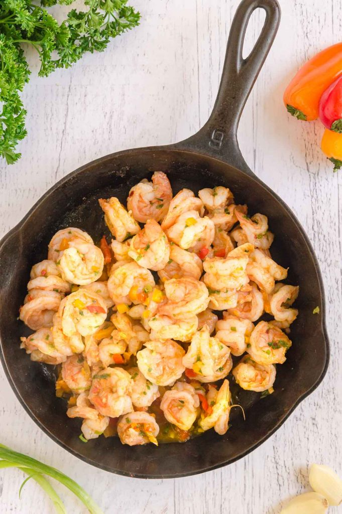 cooked spicy shrimp