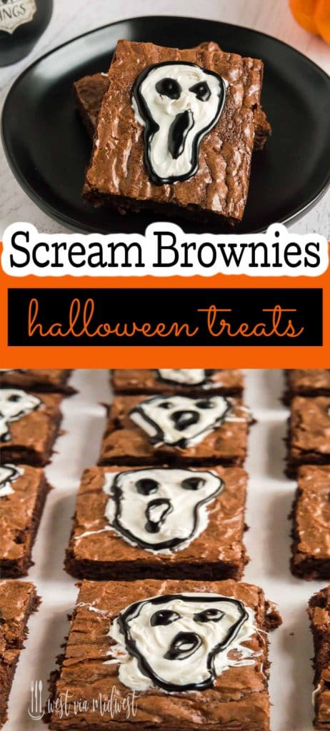 diagram of scream brownies