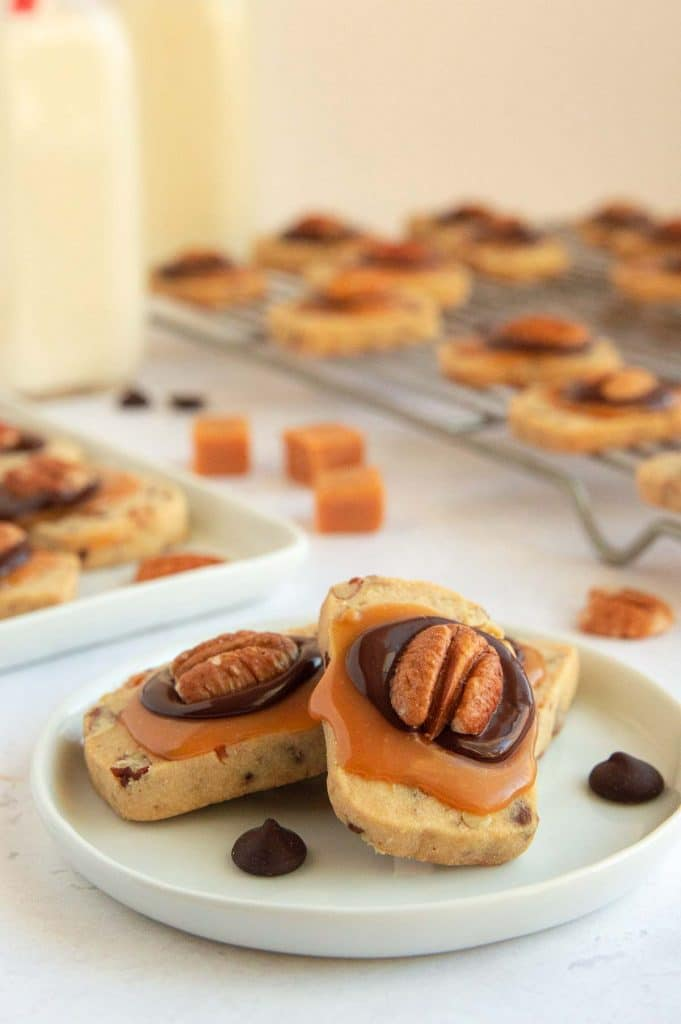 Cookie Tray with Butter Pecan Turtle Cookies