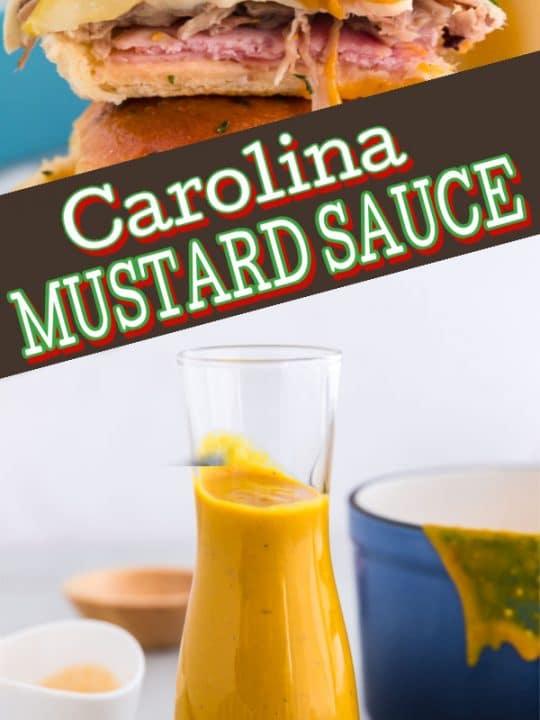 pinterest image for carolina BBQ sauce