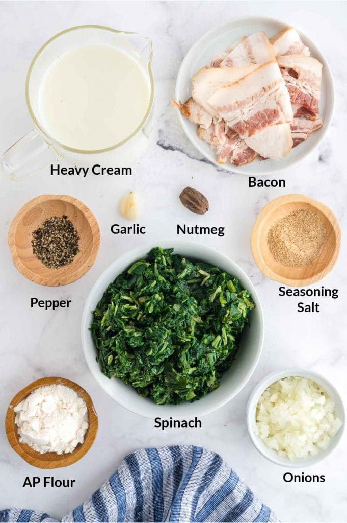 ingredients to make spinach copycat