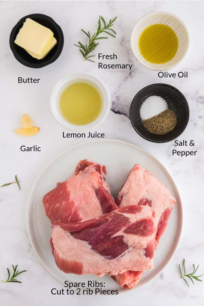 Ingredients to make 30 minute grilled ribs