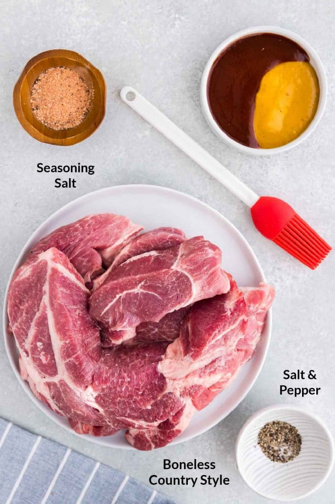 ingredients to make air fried ribs
