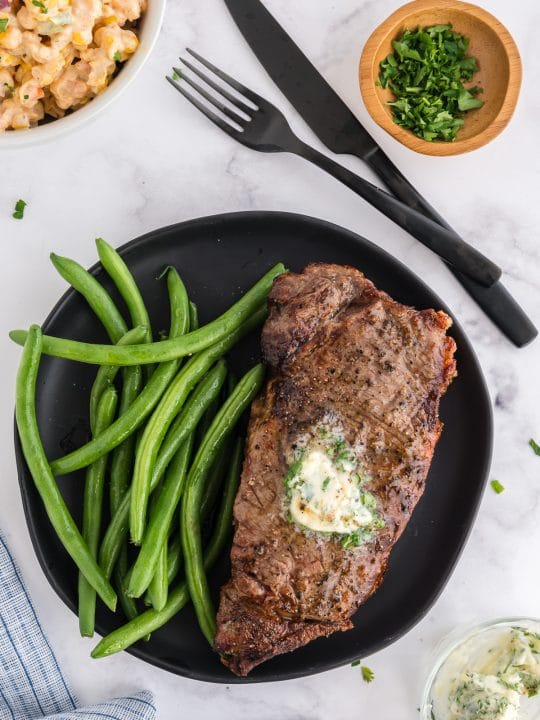 New York Strip on a plate
