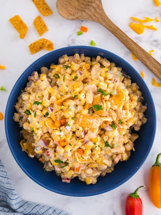 corn dip in a bowl
