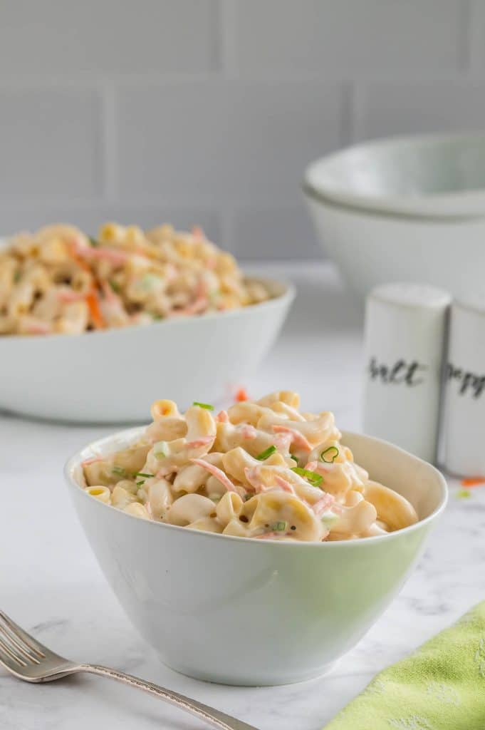 pasta salad in a bowl