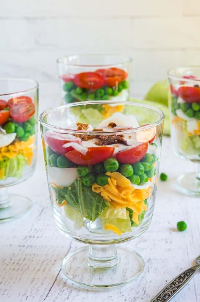 individual servings of Pea salad
